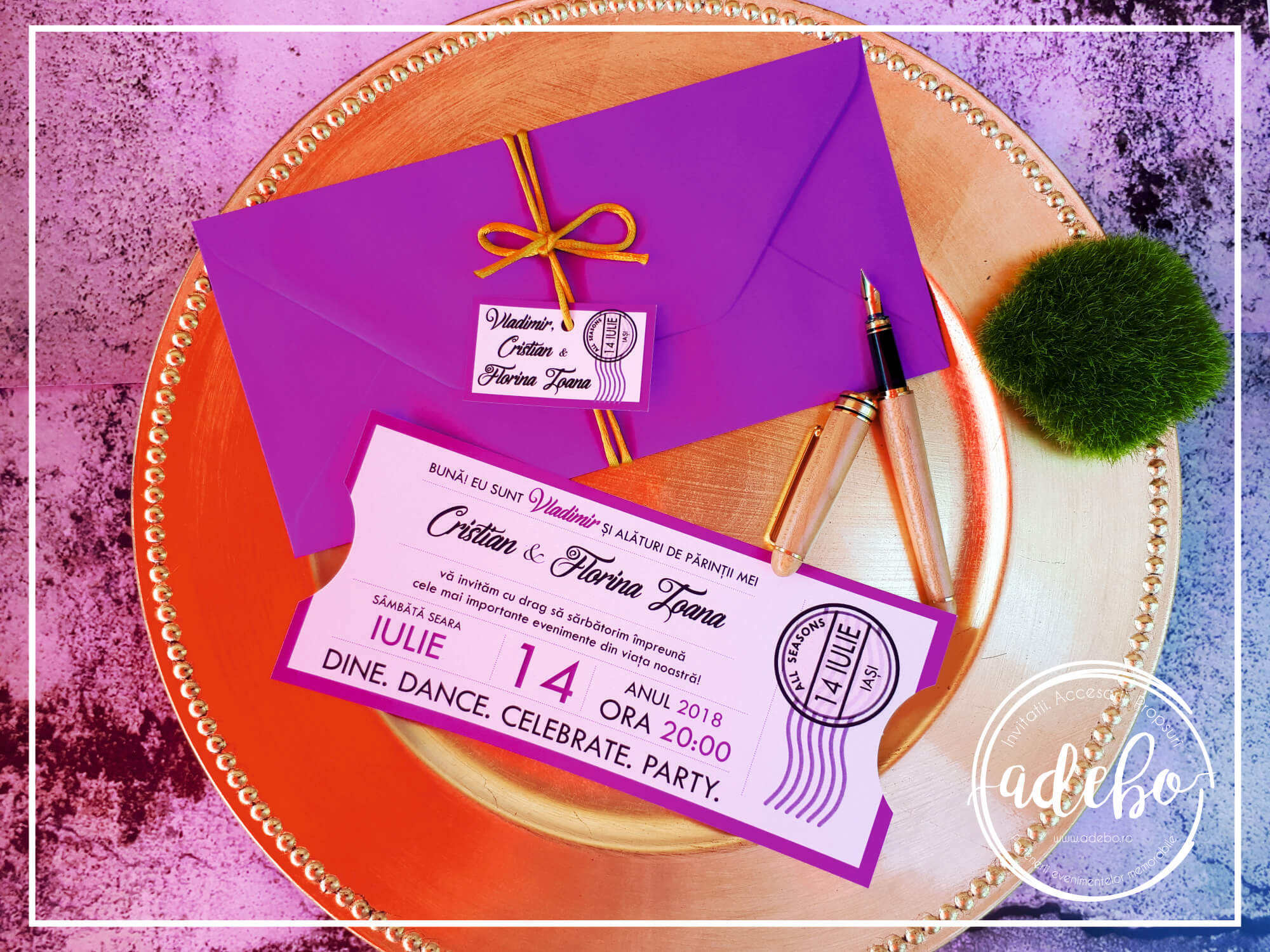 Invitatie Nunta Si Botez La Un Loc Invitatie Bilet Teatru