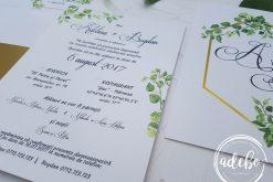 Invitatie nunta Greenery 2