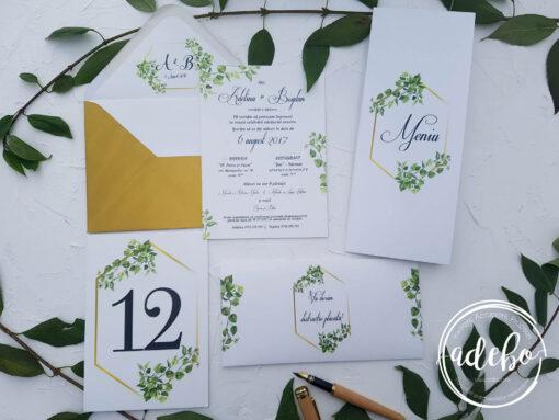 Invitatie nunta Greenery 3