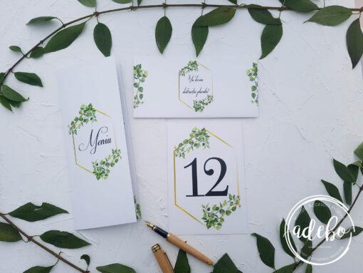 Invitatie nunta Greenery 4