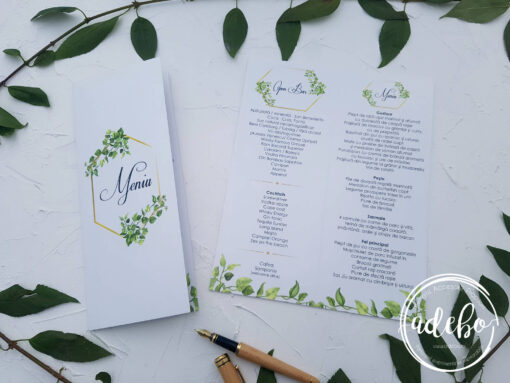 Invitatie nunta Greenery 5