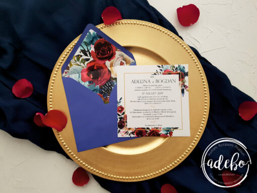 Invitatie nunta Navy 1
