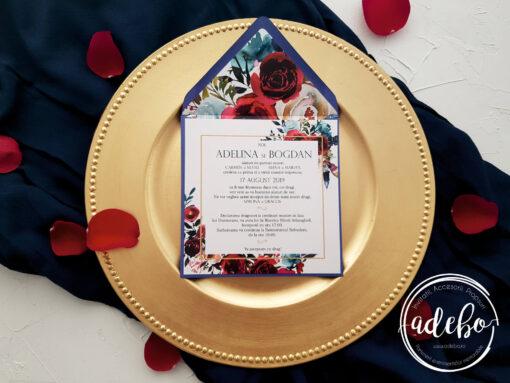 Invitatie nunta Navy 3