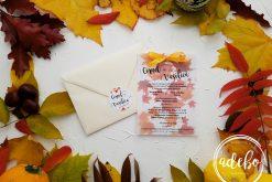 Invitatie nunta de toamna