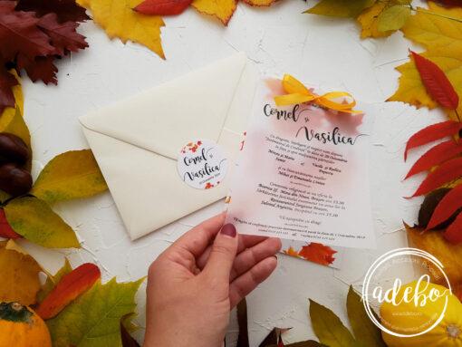 Invitatie nunta de toamna 2
