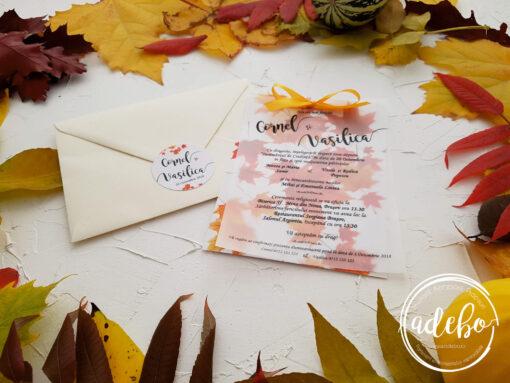 Invitatie nunta de toamna 3