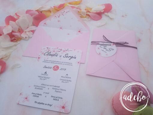 Invitatie nunta flori de cires