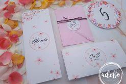 Invitatie nunta flori de cires 2
