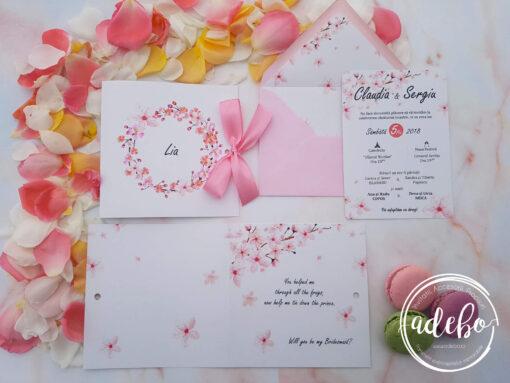 Invitatie nunta flori de cires 6
