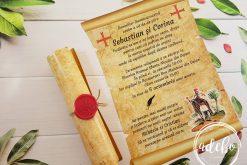 Invitatie nunta Papyrus