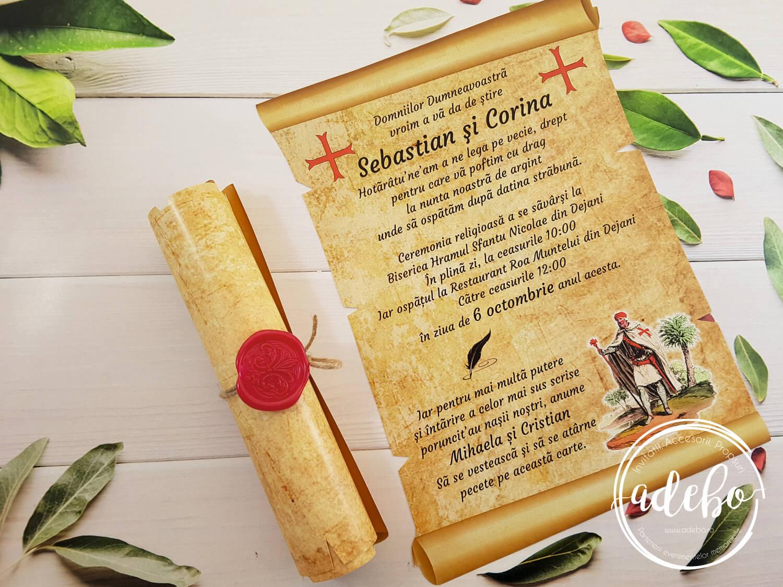 Invitatie Nunta Papyrus Invitatii Nunta Cu Sigiliu Invitatii