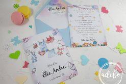 Invitatie botez baietel - watercolor 0