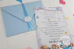 Invitatie botez baietel - watercolor 1