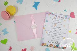 Invitatie botez fetite - Watercolor 2