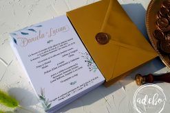 Invitatie nunta Gold and Green 1