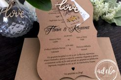 Invitatie nunta rustica 4
