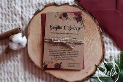 Invitatie nunta Burgundy