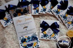 Invitatie nunta Navy Lemon 2