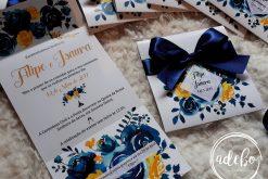 Invitatie nunta Navy Lemon 3
