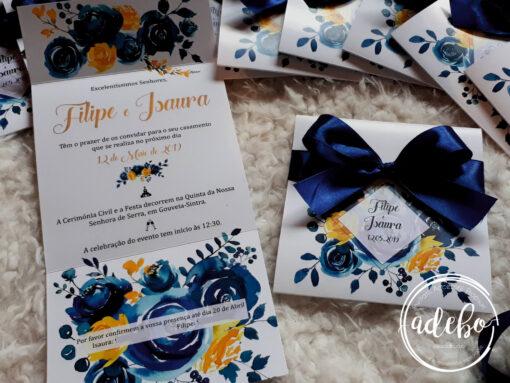Invitatie nunta Navy Lemon 4