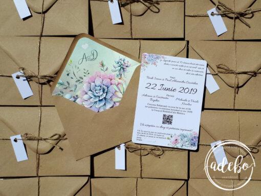 Invitatie nunta Plante Suculente 1