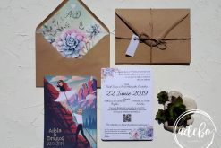 Invitatie nunta Plante Suculente 2