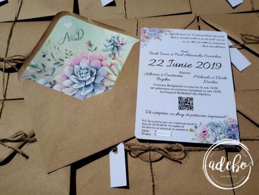 Invitatie nunta Plante Suculente 3