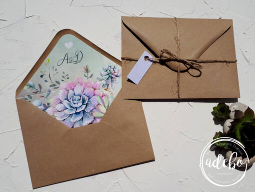 Invitatie nunta Plante Suculente 4