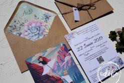 Invitatie nunta Plante Suculente 5