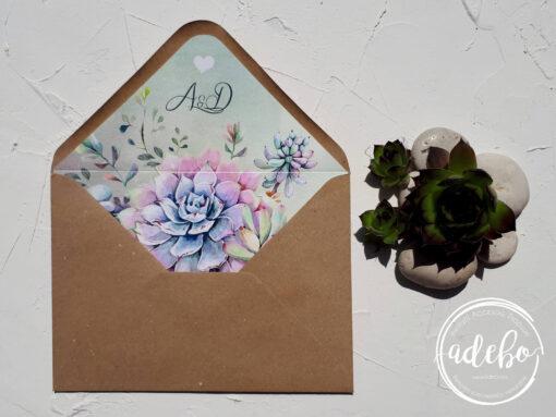 Invitatie nunta Plante Suculente 6