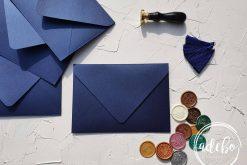 Plicuri facute manual - Albastru Regal