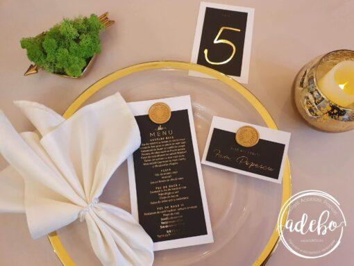 Pachet papetarie nunta Luxury Gold