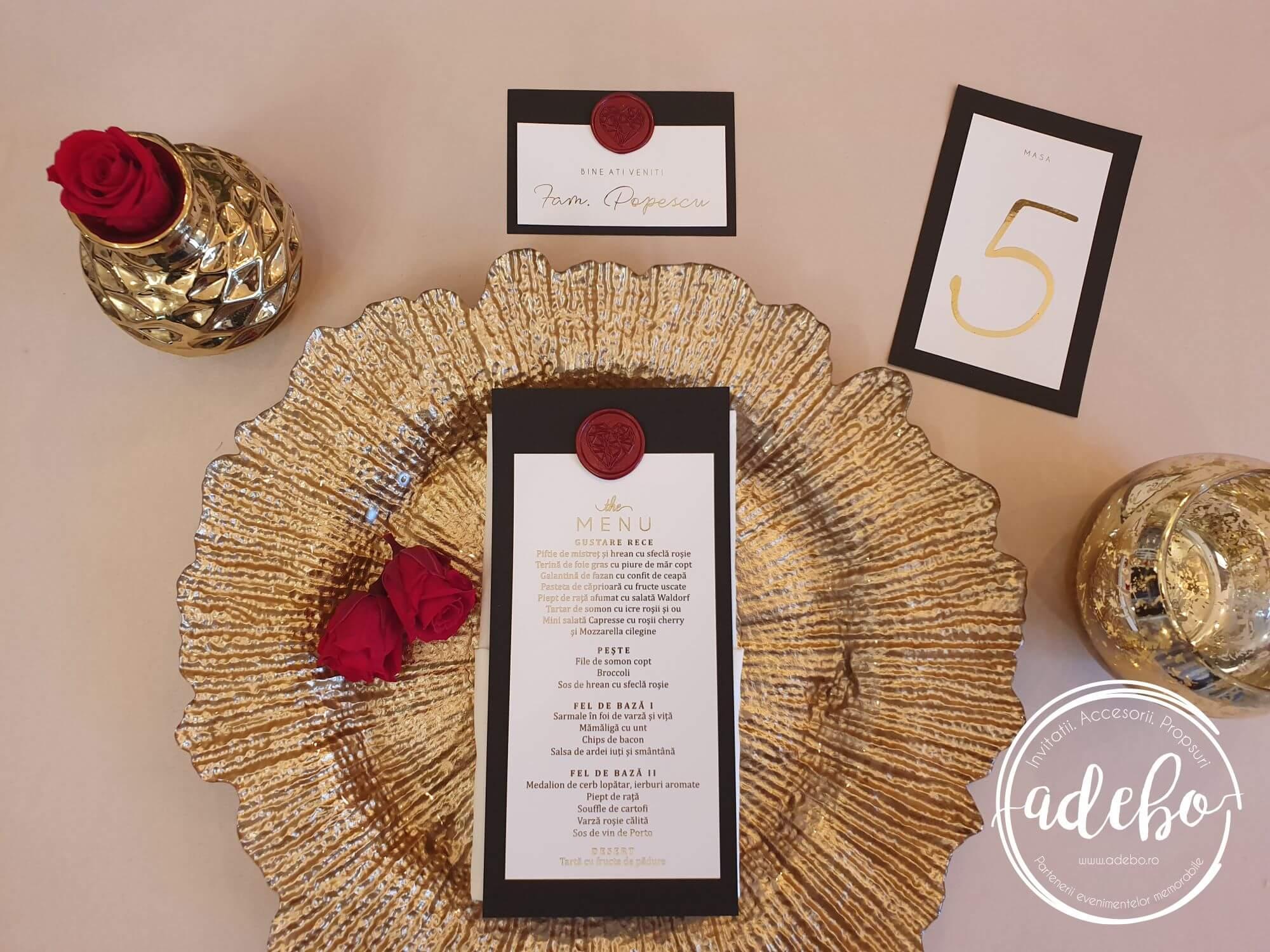 Pachet papetarie nunta Luxury Red