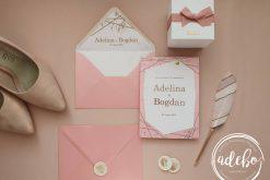 Invitatie nunta Rose Gold