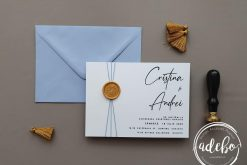 Invitatie nunta Clear Blue