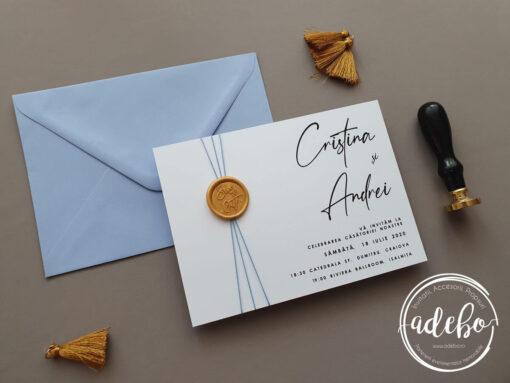 Invitatii nunta cu sigiliu de ceara