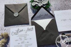 Invitatie nunta Gray Lines