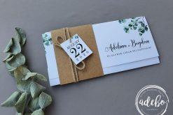 Invitatie nunta Kraft Eucalypt