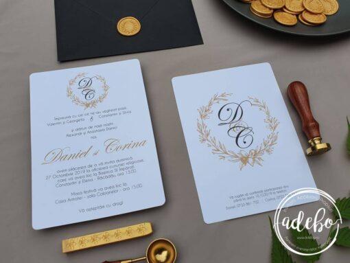 Invitatie nunta Monograma