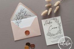 Invitatie nunta cu plic sampanie