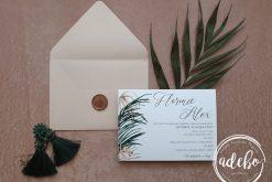 Invitatie nunta Areca Palm Nude