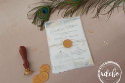 Invitatie nunta Waves Gold