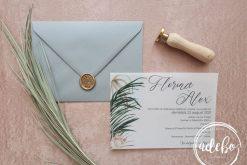 Invitatie nunta Areca Palm Grey