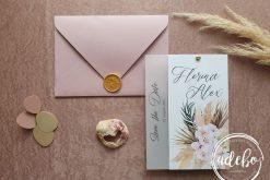 Invitatie nunta Pampas & Orchid