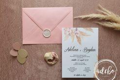 Invitatie nunta - Pampas & Roses