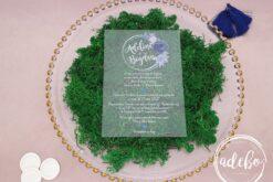 Invitatii nunta plexiglas - Navy Blue