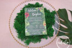Invitatii nunta plexiglas - Tropical